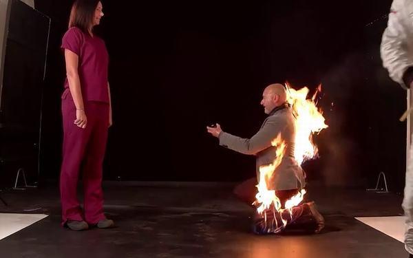 Nằm mơ thấy mình bị bắt lửa