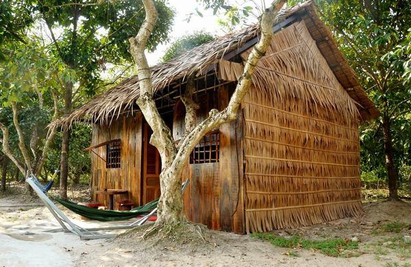 Nằm mơ thấy nhà lá, nhà gỗ.