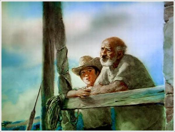 Mơ thấy ông ngoại âu yếm, vuốt ve, xoa đầu, ân cần chăm sóc
